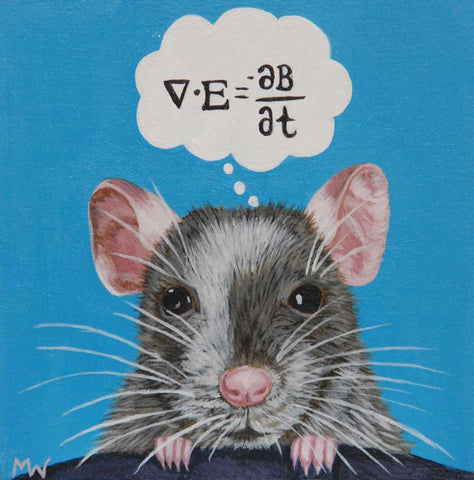 Physics Mouse by artist Michelle Waters
