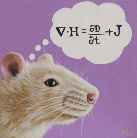 Physics Rat by artist Michelle Waters
