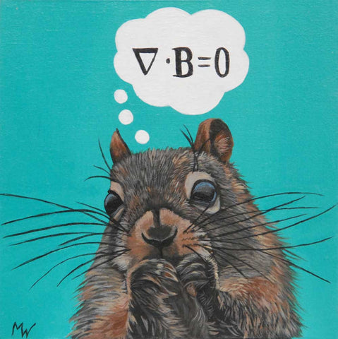 Maxwell Squirrel by artist Michelle Waters