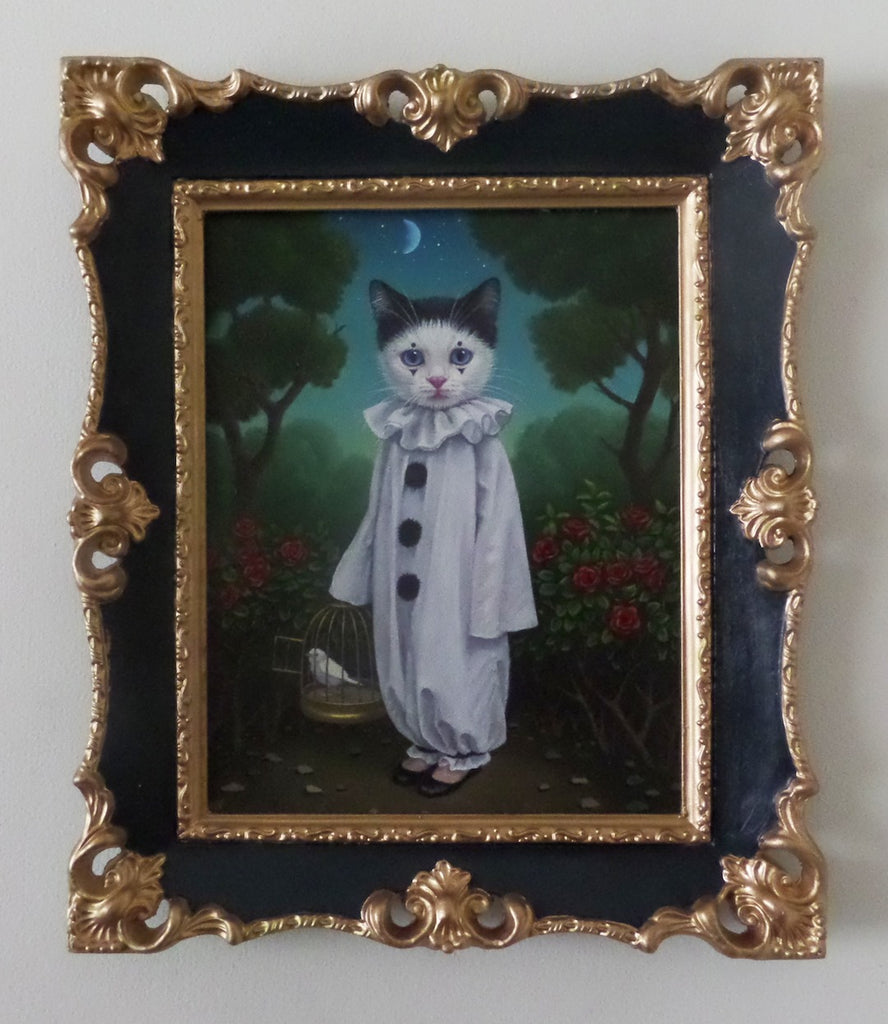 PIERROT AND A BIRD by artist Olga Ponomarenko