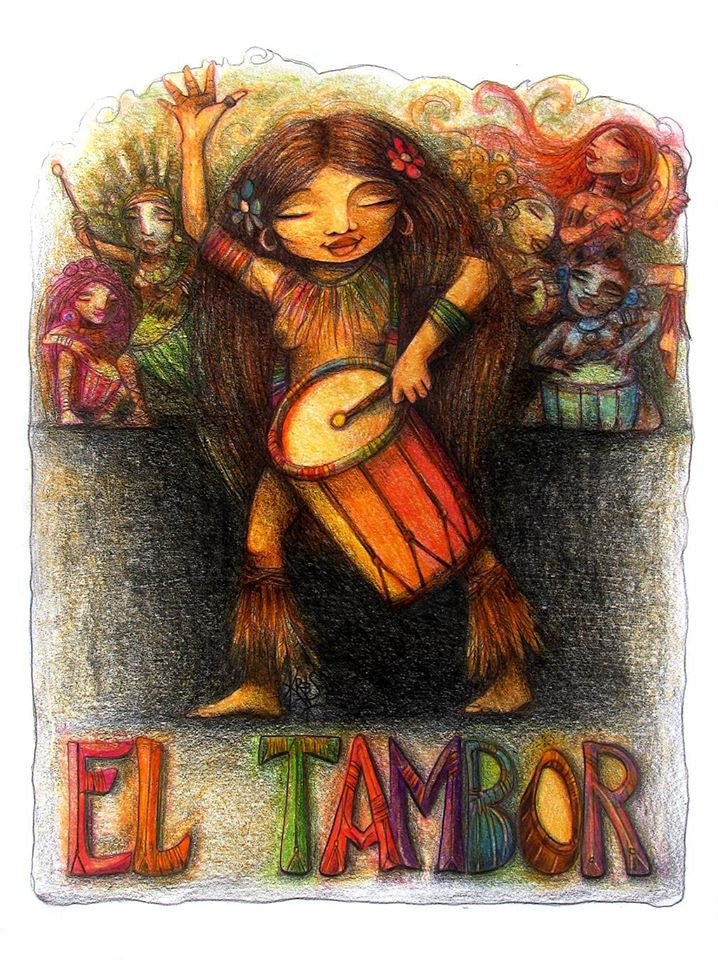 #29 EL TAMBOR (The Drum) by artist Patricia Krebs