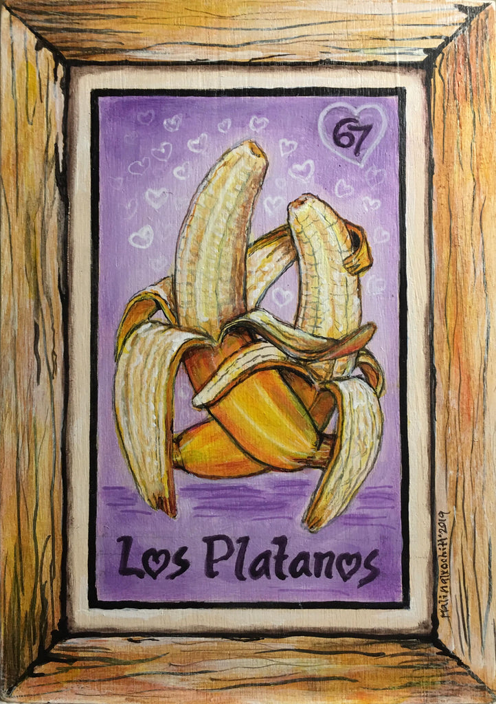 LOS PLATANOS (PELADOS) / The Plantains #67 by artist Gabriela Zapata