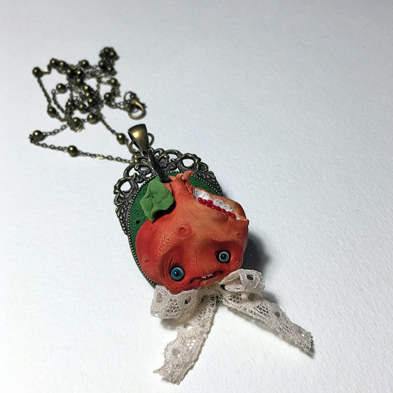 MR. POMEGRANATE CAMEO NECKLACE by artist Nobu Happy Spooky