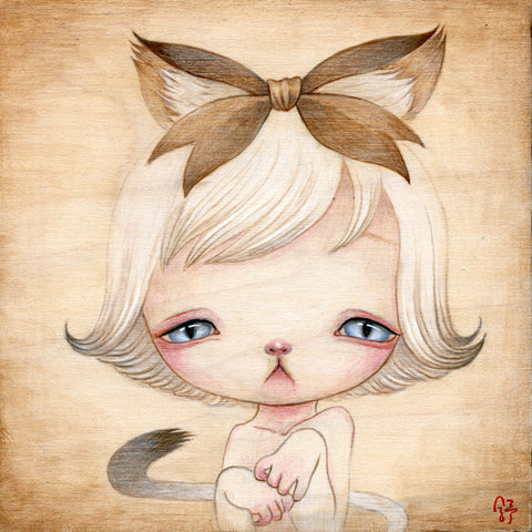 """Present Kitty"" by artist YiShu Wang"