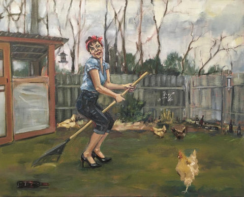 Domestically Dysfunctional Pin-Up, Productivity by artist Nancy Cintron