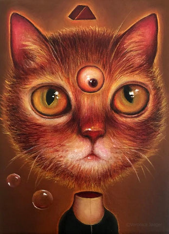 PSYCHIC CAT by artist Veronica Jaeger