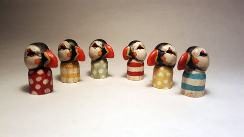 POCKET PUFFINS (COLORS) by artist Carisa Swenson