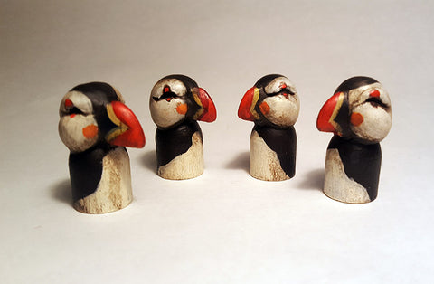 POCKET PUFFINS (NATURAL) by artist Carisa Swenson