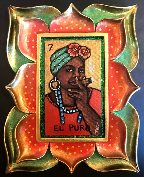 EL PURO (The Cigar) #77 by artist Pamela Enriquez-Courts