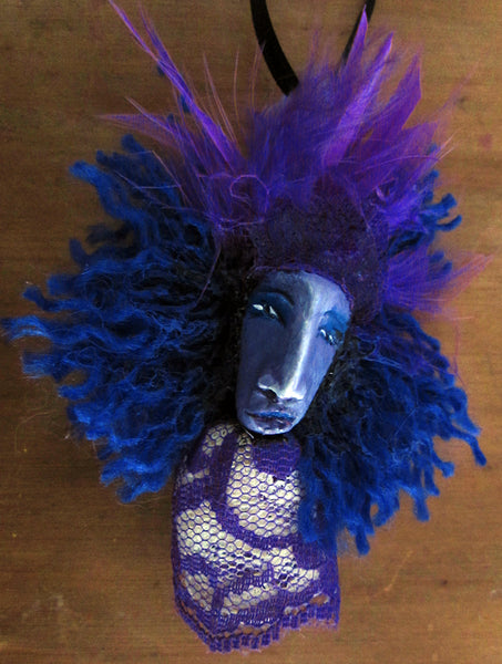 PURPLE PENDANT & EARRINGS by artist Patricia Krebs
