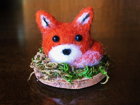 WEE FOX RED #3 by artist Francesca Rizzato