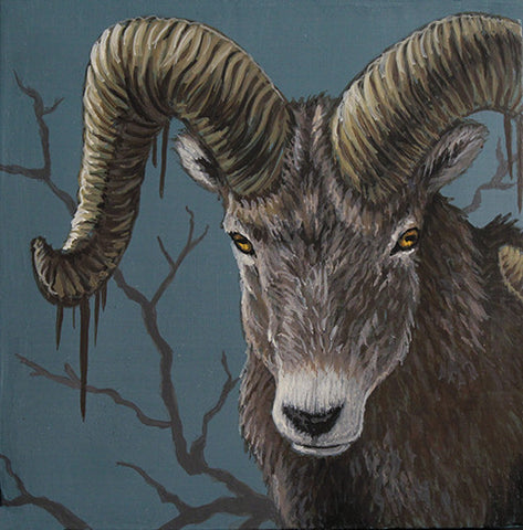 Rooted Ram by artist Lena Sayadian