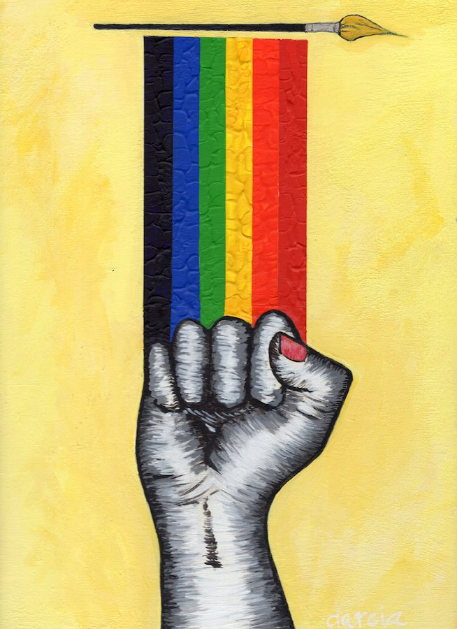 LA BANDERA (Now it's Personal) / The Flag #16 by artist Rosie Garcia