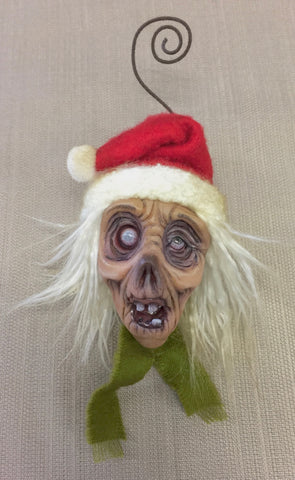 SANTA ZOMBIE by artist Sheila Bentley