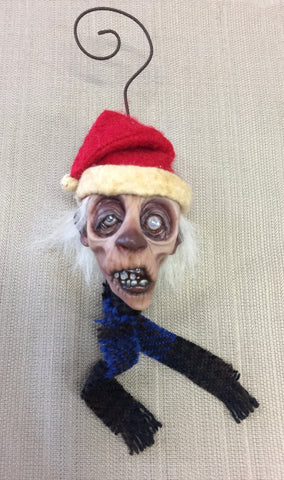 SANTA ZOMBIE #2 by artist Sheila Bentley