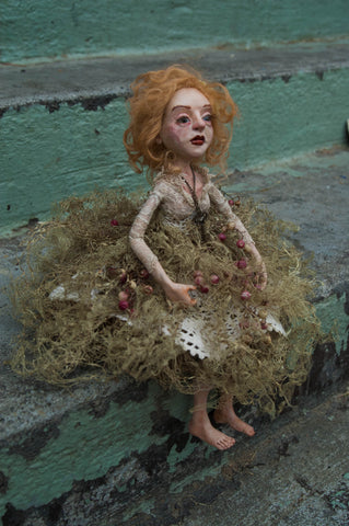MARGO, THE LACE LICHEN FAIRY by artist Lacey Bryant