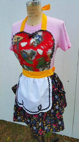 Siesta Loteria inspired aprons by Los Lover Dovers
