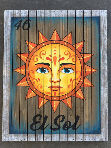 #46 EL SOL (The Sun) by artist Ruth Barrera