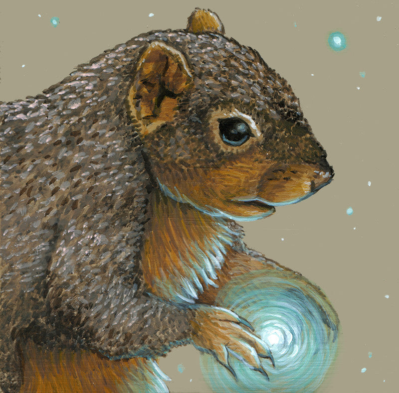 Spirit Squirrel by artist Lena Sayadian
