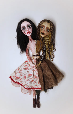 Greek Pagan Folktales: Οι αδερφές/ The Stepsisters (Crete) by artist Anima ex Manus Art Dolls