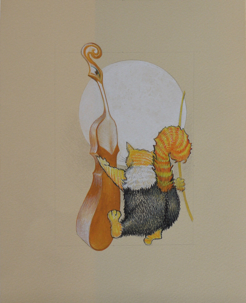 THE CAT AND THE FIDDLE by artist Janet Olenik