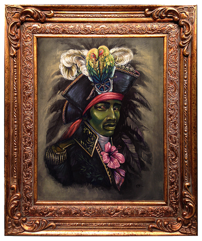 "El negrito #26 (Toussaint Louverture, ""The Black Napoleon"") by artist Brooke Kent"