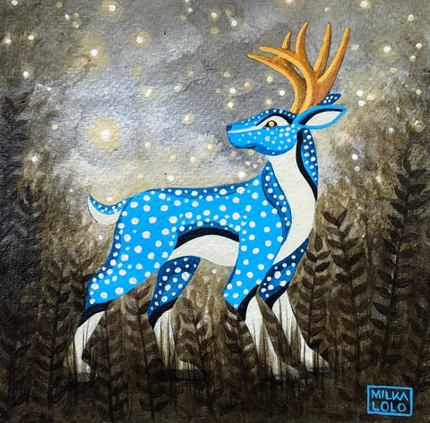 El Venado Azul (The Blue Deer) by artist Milka LoLo