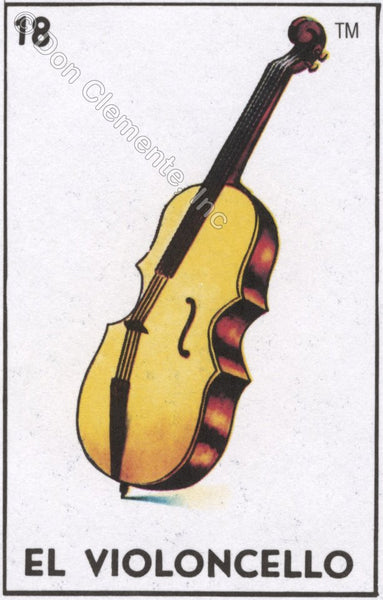 EL VIOLONCELLO (The Cello) #18 by artist Nancy Cintron