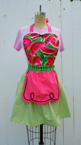 Sandia Loteria inspired aprons by Los Lover Dovers