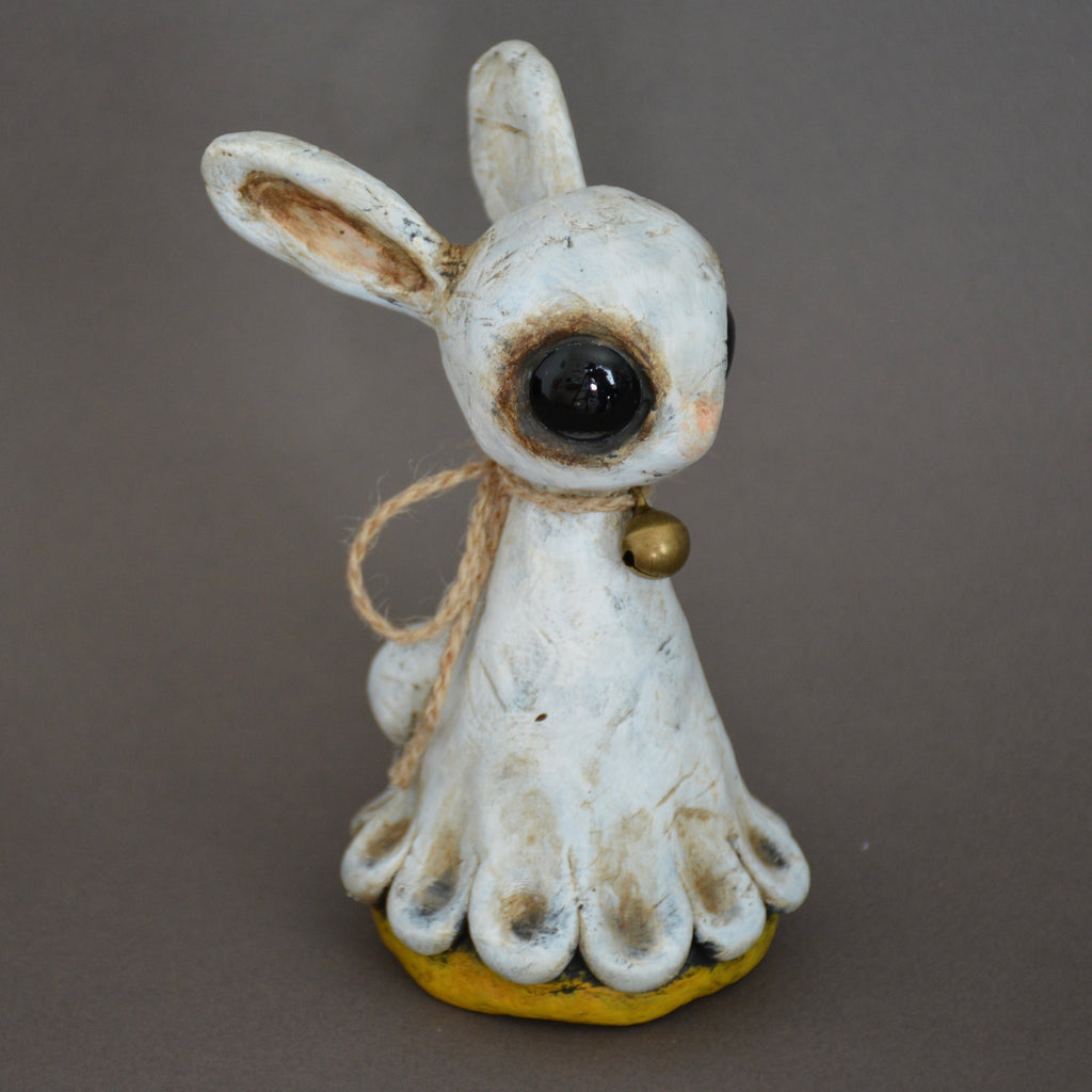 WHITE RABBIT (YELLOW) by artist Inga Lena