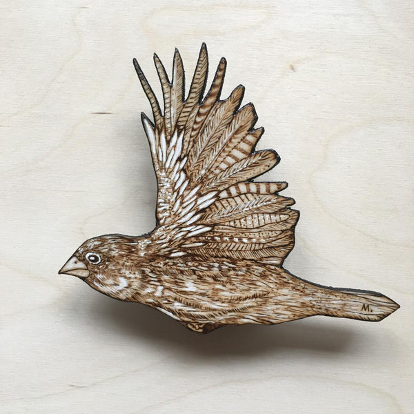 FIVE INCH FINCH X by artist Samantha Mullen