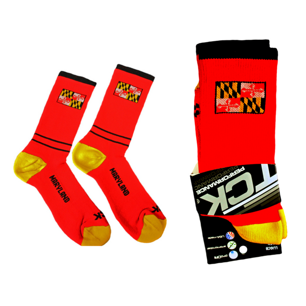 Maryland Flag Crew Socks