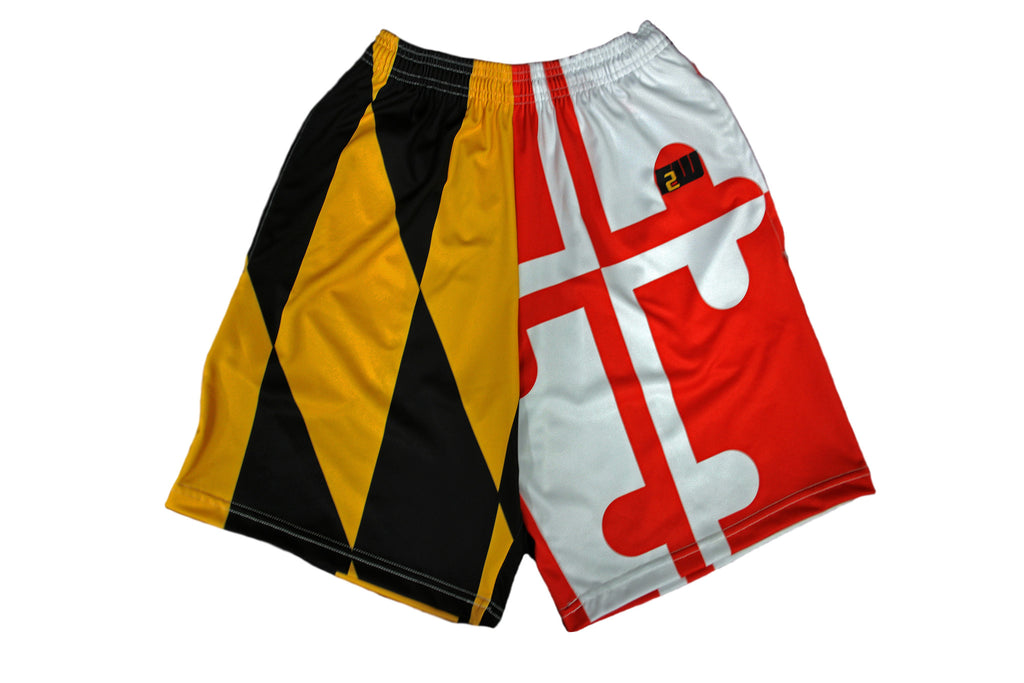 Full Maryland Flag Shorts