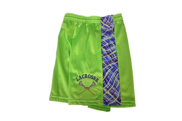 Women's Tricot Mesh Shorts with Patterned Insert - Lacrosse