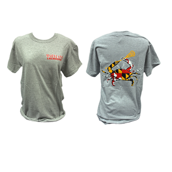 Maryland Lacrosse Crab Short Sleeve Tshirts