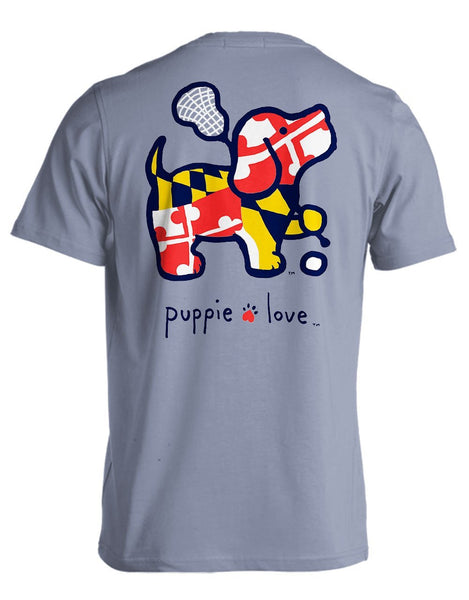 MD LAX PUP Tee by PUPPIE LOVE™ [DONATES TO ANIMAL SHELTER]