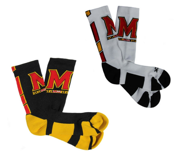 "Maryland ""M"" Crew Socks"