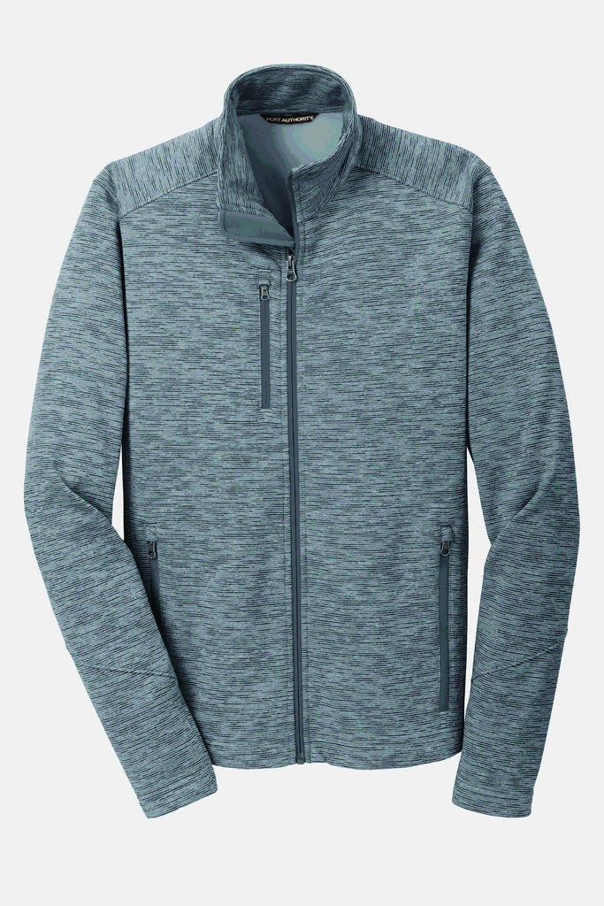 SJMC Port Authority® Men's  Digi Stripe Fleece Jacket F231