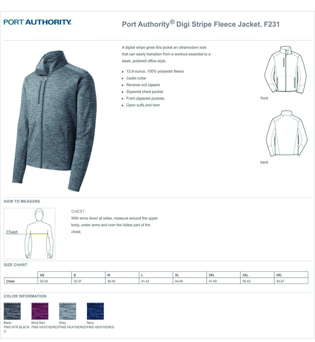 UMMC Port Authority® Men's  Digi Stripe Fleece Jacket. F231