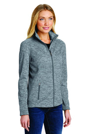 SJMC Port Authority® Women's Digi Stripe Fleece Jacket. L231