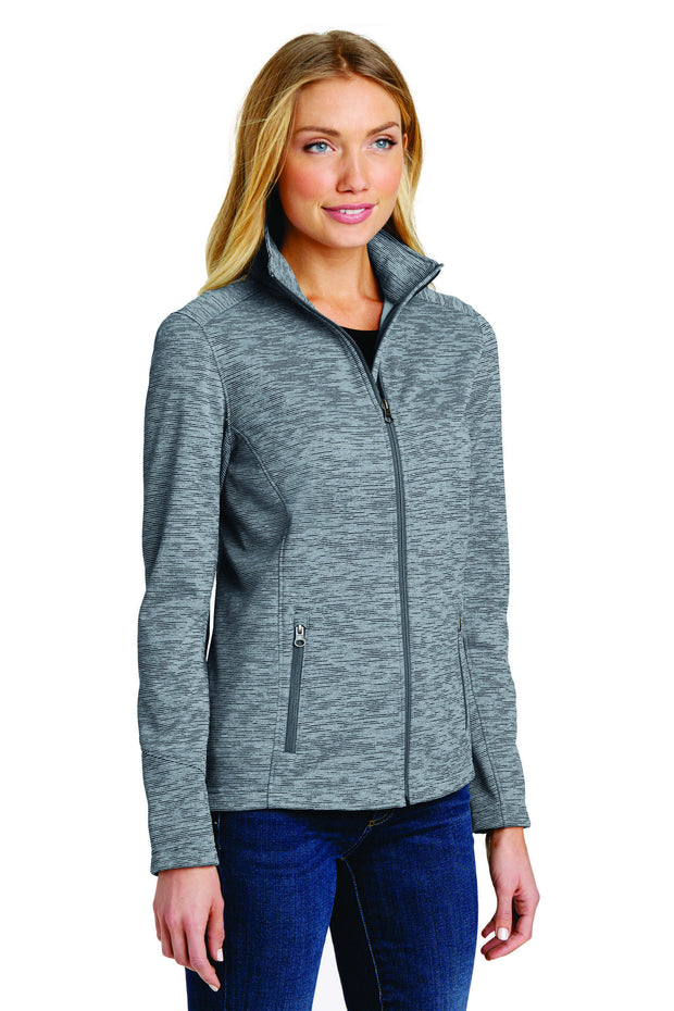 Cardiac Port Authority® Women's Digi Stripe Fleece Jacket L231