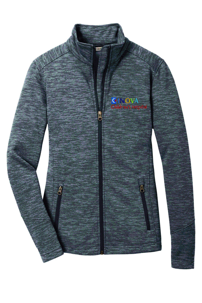 BWMC Nursing Support Svs Port Authority® Ladies Digi Stripe Fleece Jacket L231 Women