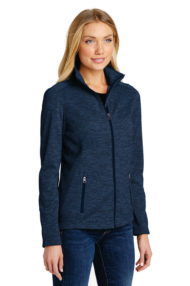 Bruno Brown Plastic Surgery Port Authority® Women's Digi Stripe Fleece Jacket. L231