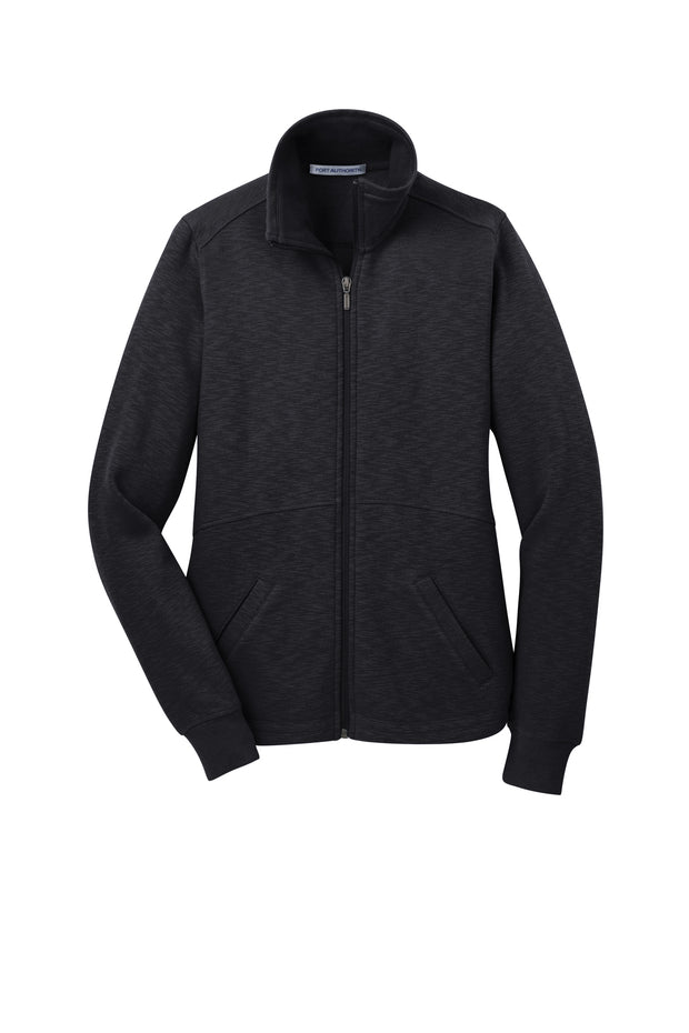 SH L293 Port Authority® Ladies Slub Fleece Full-Zip Jacket