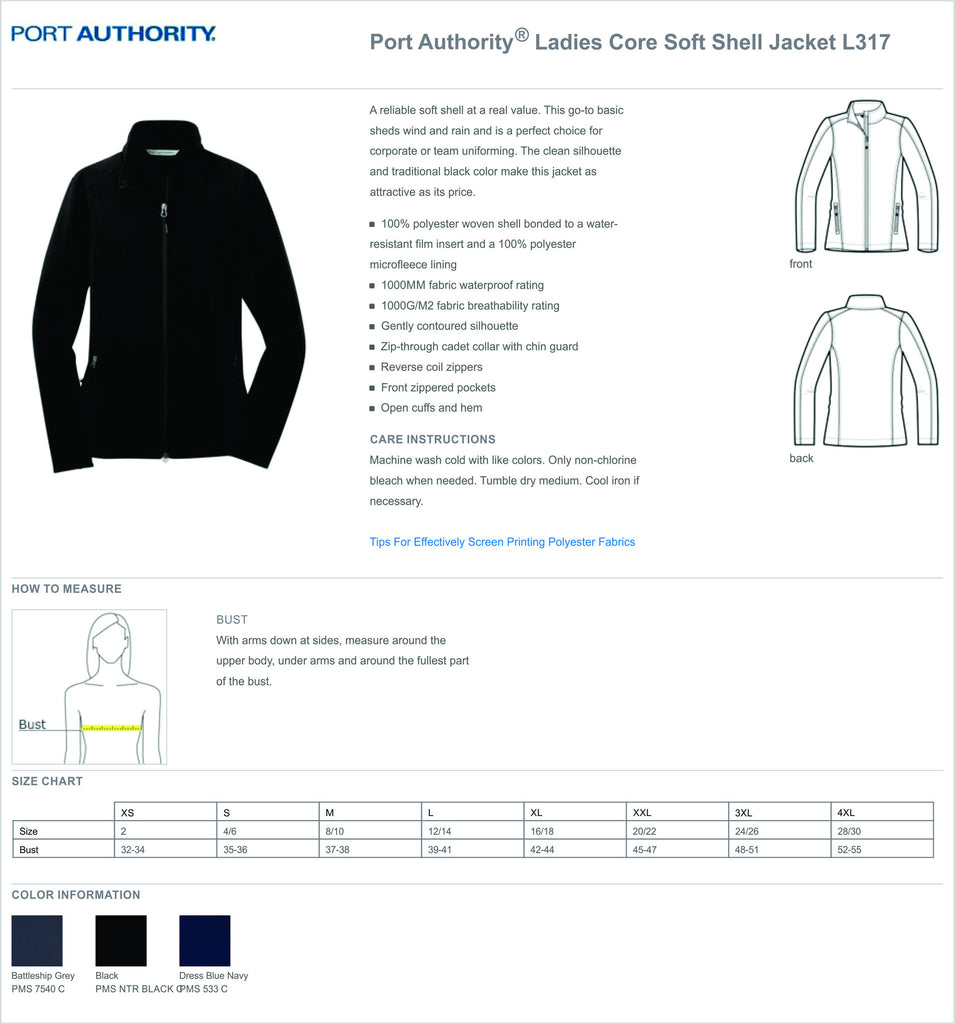 UMMC ECMO Soft Shell Female Jacket L317