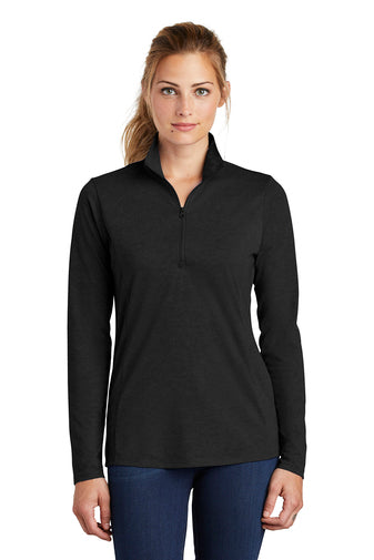 AAVEC  LST407 Sport-Tek ® Ladies PosiCharge ® Tri-Blend Wicking 1/4-Zip Pullover
