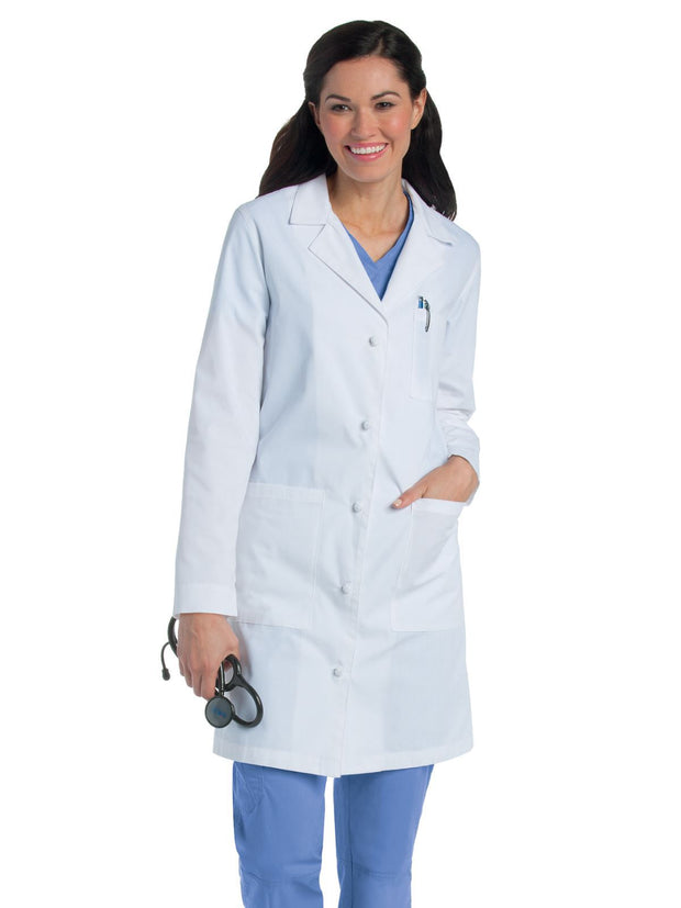 Landau Female Knotted Button Lab Coat 3172