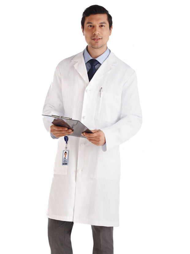 Meta 40 inch Knotted Button Lab Coat 762M