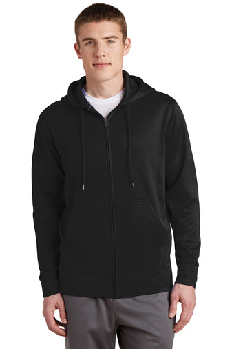 ST238 Sport-Tek® Sport-Wick® Fleece Full-Zip Hooded Jacket