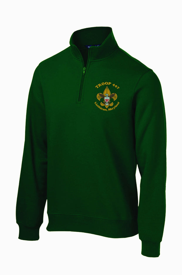 Troop 447 1/4 Zip Sweatshirt ST253